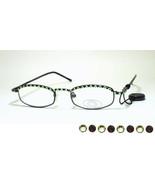 Jimmy Crystal New York GL180 Swarovski Reading Glasses Jet Black & Perid... - $49.99