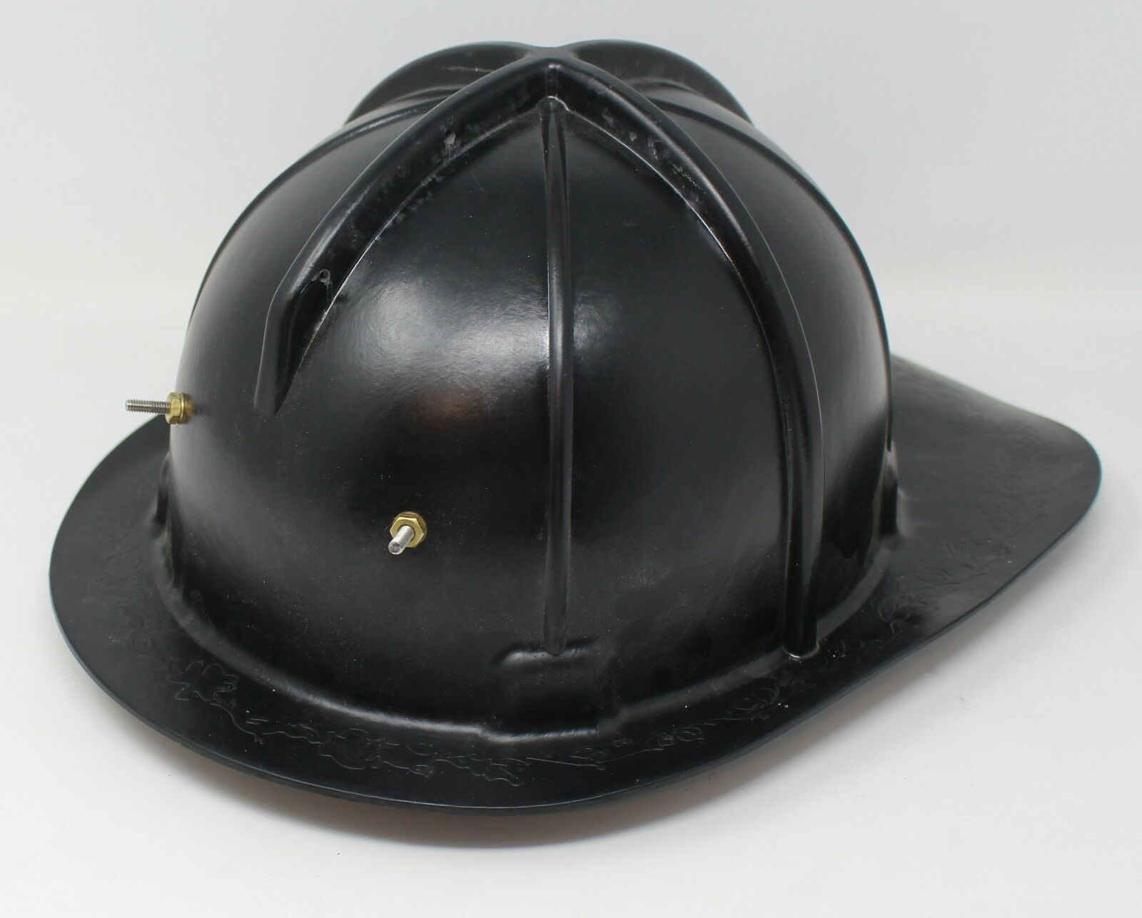 Vintage Style Brass Red Finish Firemen Fire Fighter Chief Antique Helmet Gift