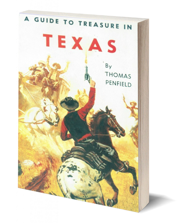 3d book cover a guide to treasure in texas