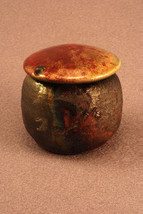RAKU Unique Ceramic Companion Small/ Keepsake Funeral Cremation Urn #K002 - $149.00