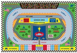 Fun Rugs FT-120 3958 Speedway Childrens Rug, 39 (39 in x 58 in|Multi-col... - $56.94