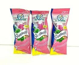 3 x Skintimate Razors 2-Pack NEW Skin Twin Schick Aloe Vitamin E Refreshing - $15.32