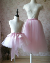 BABY PINK Mother Daughter TUTU Skirt Set Baby Shower Photography Props image 3