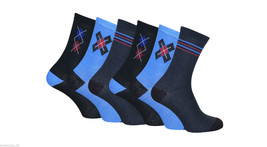 6 Pairs of Mens Fashion Patterned Socks in a gift Box, 6-11 uk, 39-46 eu,7-12 us - $9.31