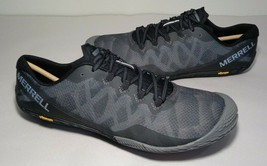 Merrell Size 9.5 M VAPOR GLOVE 3 Black Silver Sneakers New Women's Shoes - $117.81