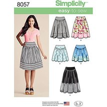 Simplicity Patterns Misses' Easy-To-Sew Skirts in Three Lengths Size: H5... - $13.48