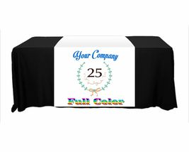 "Customize Table Runner with your logo or Design From 24""x72"" to  24""x90""  Great  image 6"