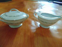 Noritake Crestmont China Creamer and Sugar Bowl - $12.37