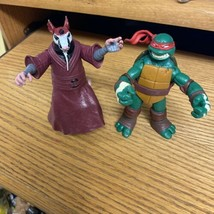 2012 TMNT Splinter and Raphael Teenage Mutant Ninja Turtles Viacom figures - $16.82