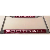 ohio state university osu buckeyes laser chrome license plate frame made... - $36.09