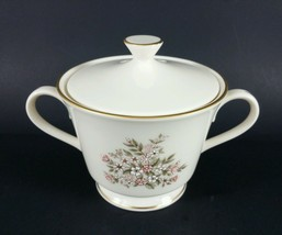 Lenox Medley Sugar Bowl W/Lid porcelain gold floral USA awesome condition - $23.75