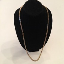 Vendome Chain Necklace 36 inches Gold Tone Signed Vintage  - $19.95