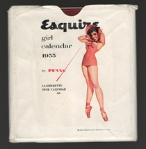 "1955  Esquire Girl by Petti    6""x6"" Leatherette Desk Calendar   - $135.00"