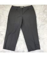Ann Taylor Loft Women's 8P Dark Gray Capris Cropped Dress Pants - $23.74