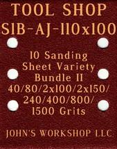TOOL SHOP S1B-AJ-110x100 - 40/80/100/150/240/400/800/1500 - 10pc Variety... - $12.46