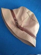 Authentic COACH Bucket Hat Women's TAN Leather ... - $45.84 CAD