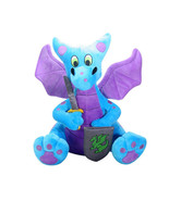 Blue and Purple Medieval Knight Dragon Plush with Sword and Shield - $23.75