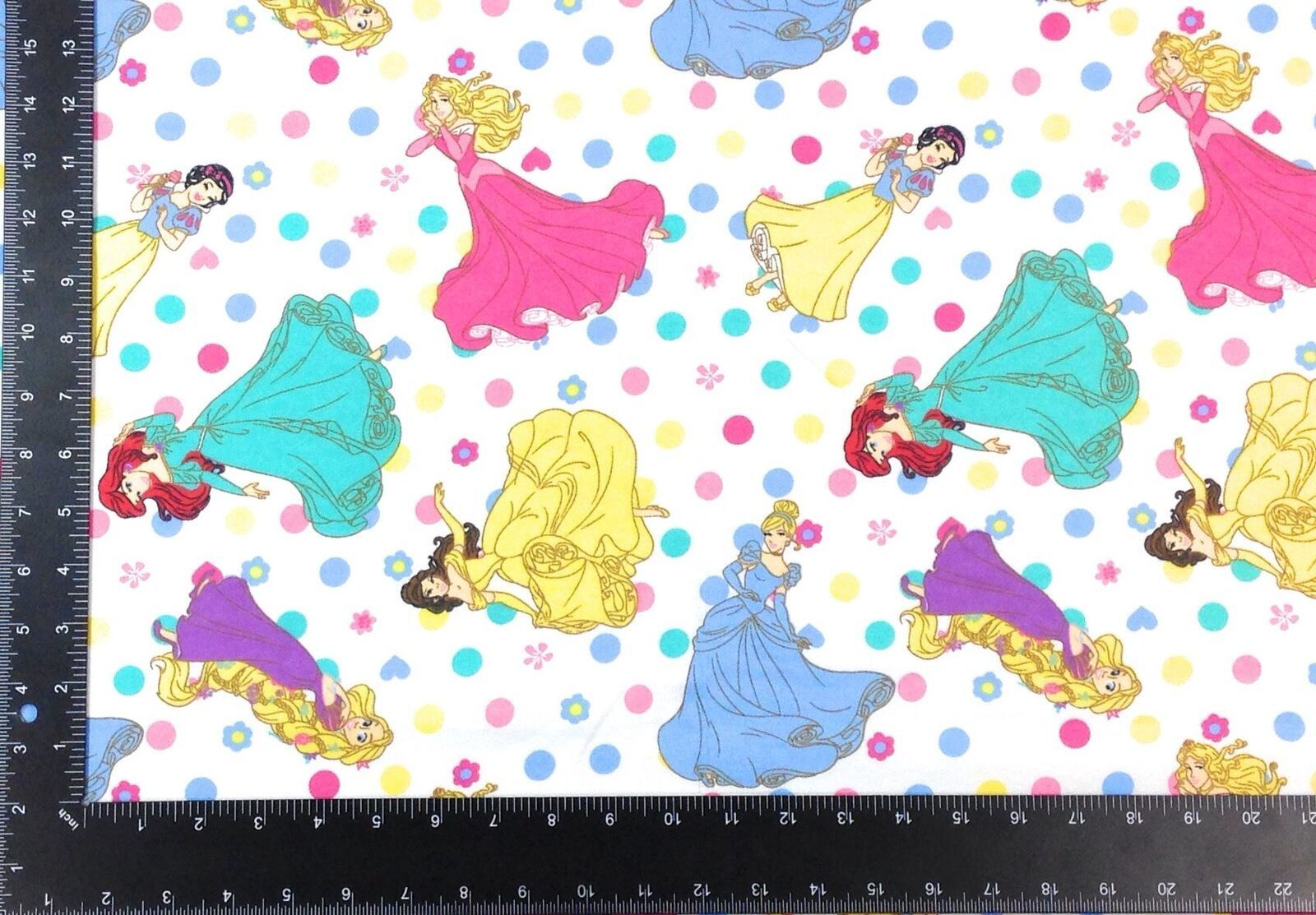 Disney Princesses Winceyette 100% Brushed Cotton Fabric Material *3 Sizes*