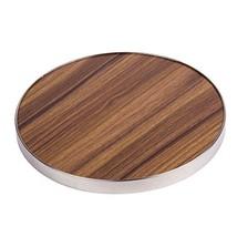 "Creative Home 50249 Fiber 7"" Round Trivet, Serving Board Acacia Wood Fin... - $20.46"
