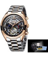 LIGE Original Brand Watch Men Automatic Self-Wind Stainless Steel 3ATM W... - $75.67
