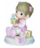 Precious Moments Growing In Grace, Age 2, Bisque Porcelain Figurine, Bru... - $38.60