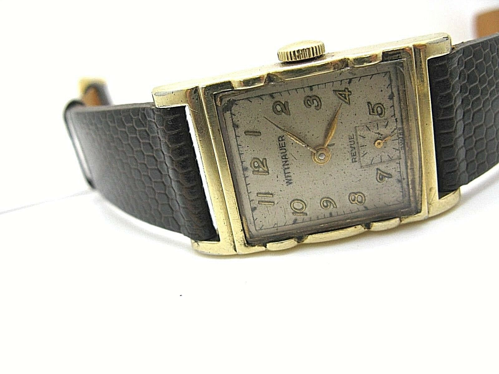 WITTNAUER LONGINE VINTAGE WATCH REVUE 1950'S 10K GF serviced