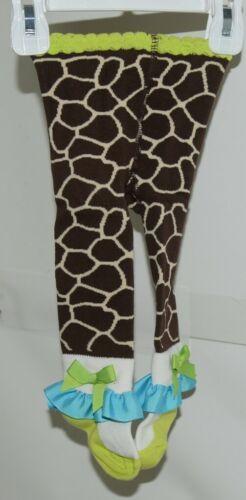 Mudpie Ruffle Socks Leggings Zebra Stripes Zero To Six Months