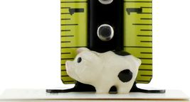 Hagen Renaker Miniature Pig Black & White Baby Piglet Standing Ceramic Figurine image 3