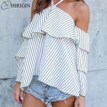 "HIRIGIN 2017 Sexy Women""s Blouses Fashion Ladies Flare Sleeve Halter Off Shoulde - $33.50"