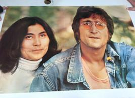 "John Lennon Yoko VTG 1978 Scotland 36 x 24"" Minerva Poster Print - $38.04"