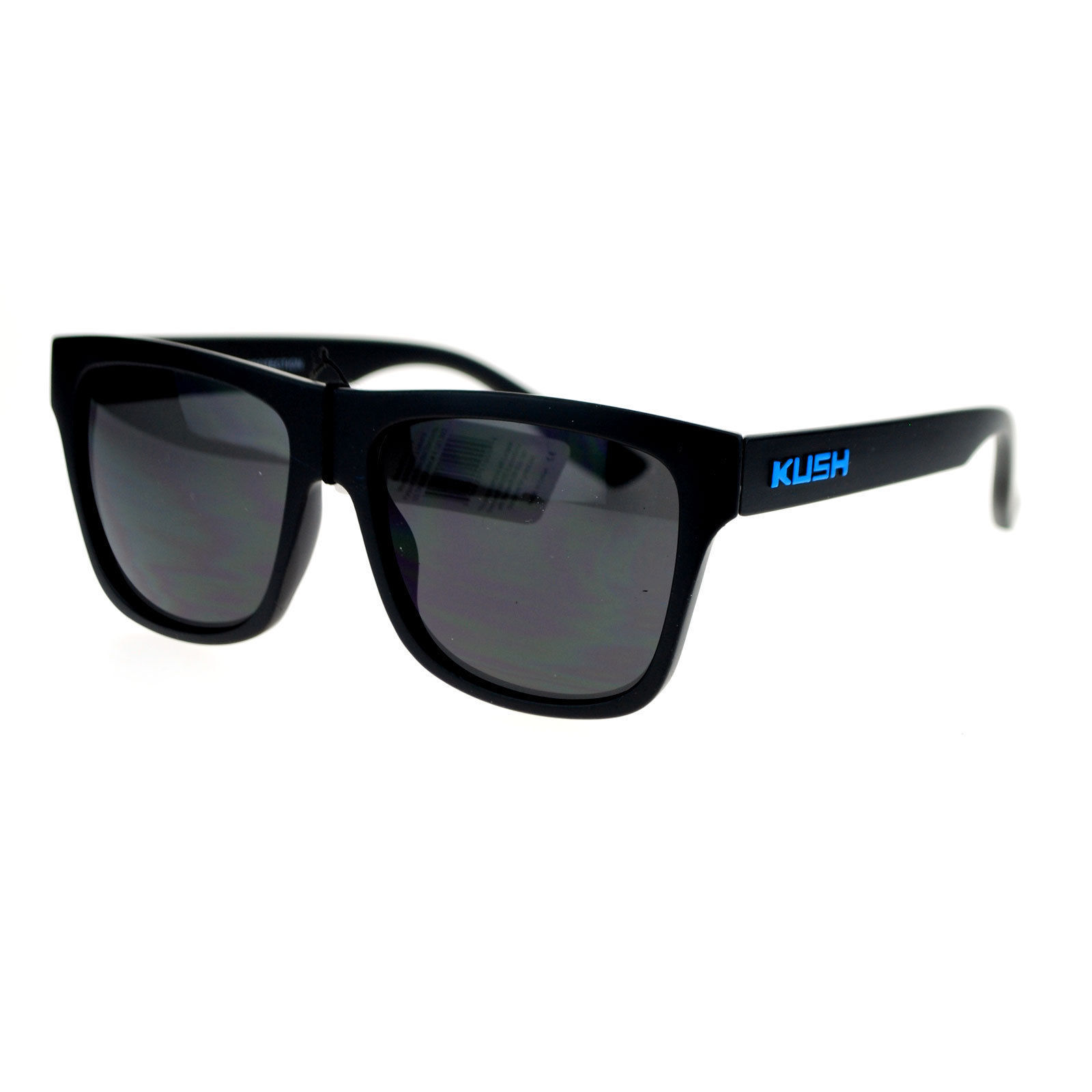 4b836231a KUSH Sunglasses Matte Black Square Frame Unisex Fashion Shades