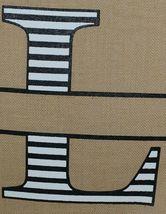 Kate Winston Brand Brown Burlap Monogram Black And White L Garden Flag image 3