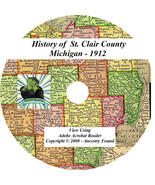 1912 History & Genealogy of St. Clair County Michigan - $5.86