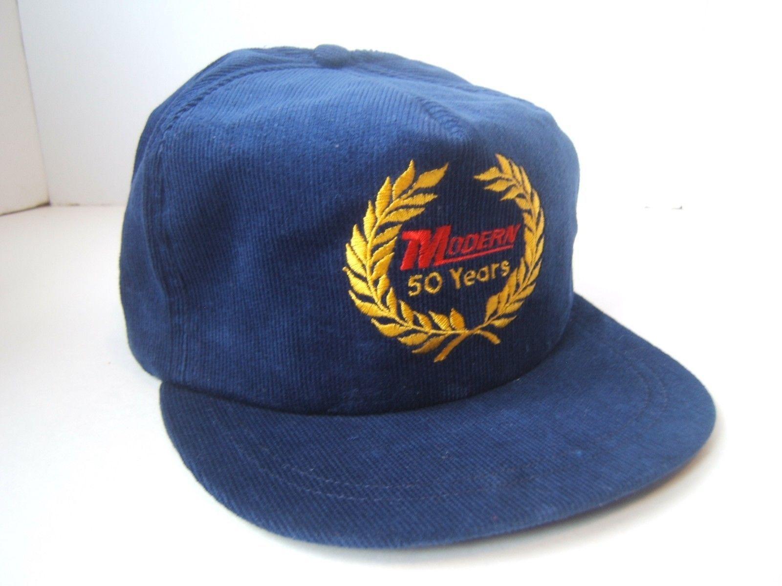 1a0133edb Vintage Modern 50 Years Hat Blue Corduroy and 50 similar items
