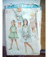 Vintage Sewing Pattern Simplicty 9644 Short Dress Wedding Party Flower G... - $7.98