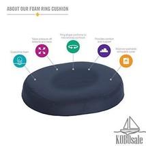 DMI Donut Pillow, Molded Foam Donut Cushion, 16 Inch, Navy - $19.03