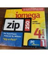 iomega 250MB Zip Disks - 4 Pack - PC Formatted - Sealed - $25.00
