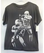 Star Wars T-Shirt Darth Vader Kids Size L NWT Grey Pullover Unisex Lucas... - $19.75