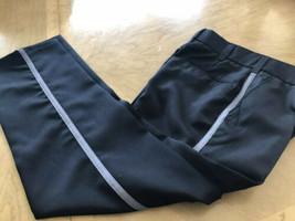 US Military Pant Dress Trousers Uniform 29 x 30 Black Gray Stripe Police... - $14.75