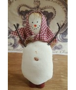 SNOWWOMAN Christmas holiday Table Desk ORNAMENT • Vintage • Pre-owned • ... - $13.81
