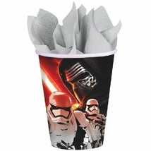 "Star Wars ""The Force Awakens"" VII 8 Ct 9 oz Paper Hot Cold Cups - $3.95"