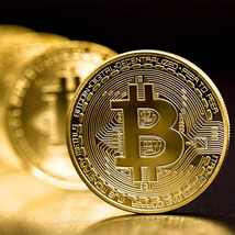 Bitcoin Commemorative Coin Gold Plated BTC Limited Edition Collectible Coin - $9.99