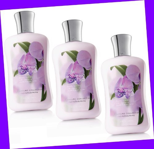 Bath & Body Works ENCHANTED ORCHID Body Lotion 8 oz (Lot of 3)