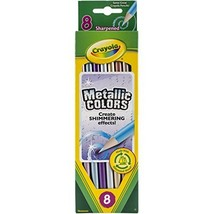 Crayola Metallic Colored Pencils, Multi-colour, 21.31 x 6.12 x 0.91cm #iih - $9.59