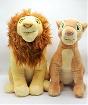 Disney Store The Lion King Adult Simba and Nala Stuffed Plush Set 18 inc... - $239.99