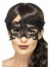 Spitze Bestickt Filigran Herz Augenmaske, Halloween Kostüm, Schwarz - $5.68 CAD