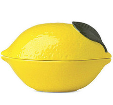 Kate Spade With a Twist Covered Bowl Yellow Lemon Shaped New In Box - $46.90