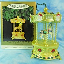 Hallmark Magic Xmas Ornament Tobin Fraley Holiday Carousel 1994 1st in Series - $14.80