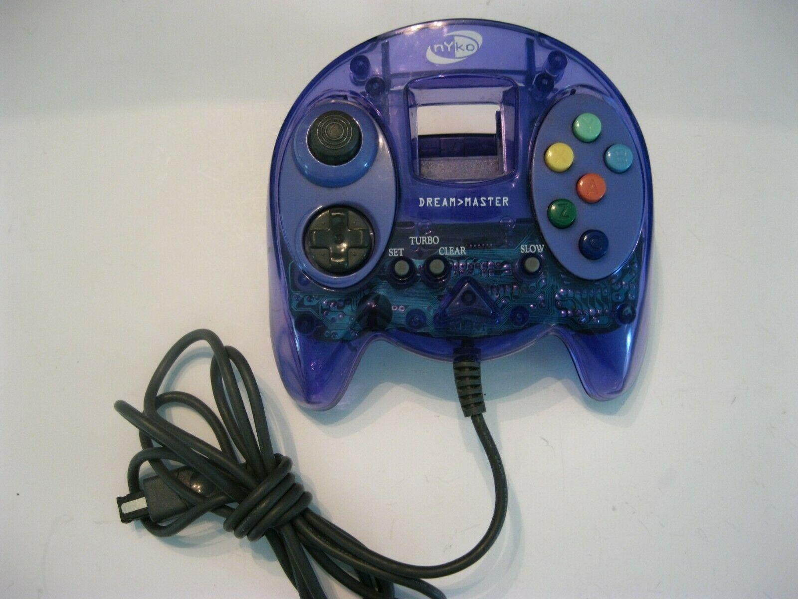 Nyko Dream Master Sega Dreamcast Controller Clear Transparent Translucent Purple