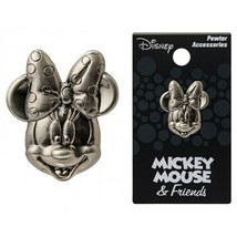 Walt Disney Minnie Mouse 3D Face and Head Metal Pewter Pin NEW UNUSED - $6.89